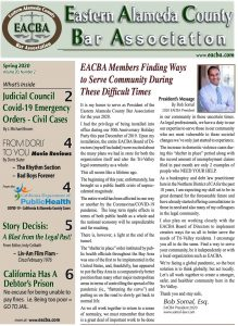 EACBA Spring 2020 newsletter page 1