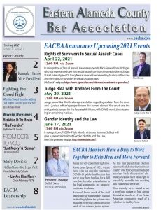EACBA Newsletter Spring 2021, Page 1